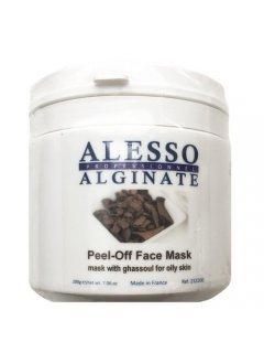 Alginate Peel-Off Face Mask With Ghassoul For Oily Skin Алессо - Альгинатная маска с глиной Гассул