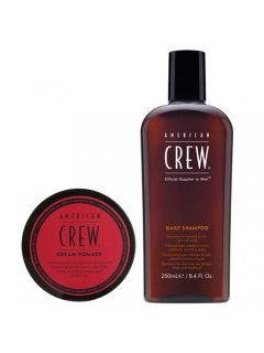 Get The Look Cream Pomade + Daily Moisturizing Shampoo Set Американ Крю Гет Зе Лук - Набор