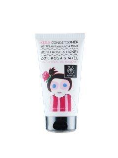 Babies & Kids Natural Conditioner Honey & Rose Апивита - Кондиционер с экстрактом розы и мёда