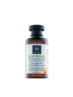 Babies & Kids Natural Hair & Body Wash Calendula & Honey Апивита - Средство для волос и тела с календулой и мёдом