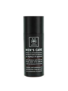 Men's Care Anti-Wrinkle Face & Eye Cream Апивита Анти-Ринкл - Крем против морщин и признаков усталости для кожи лица и вокруг глаз