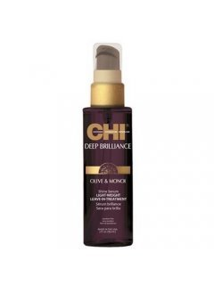 Deep Brilliance Olive & Monoi Shine Serum Lightweight Leave-In Чи - Несмываемая сыворотка-шелк для волос