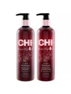CHI Rose Hip Oil Color Nurture Protecting set Чи - Набор для сияния окрашенных волос