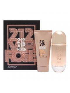 Carolina Herrera 212 Vip Rose Set (edp/80ml + b/lot/100ml) - Набор