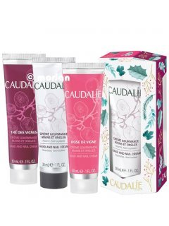 Caudalie Hand Cream Trio Gift Set cr/30vl+cr/30ml+cr/30ml+bag) - Набор