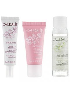 Caudalie Vinosource Cracker 2019 water/30ml+sorbet/15ml+ser/10ml) - Набор