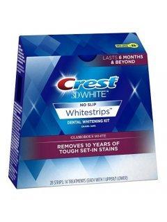 3D White Whitestrips Dental Whitening Glamorous Крест - Отбеливающие полоски для зубов удаляющие пятна