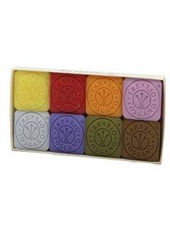 Set 8 Perfumed Soaps Ербарио Тоскано - Мыло цветное мини