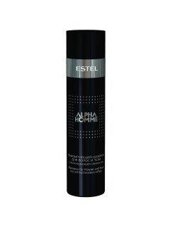 Alpha Homme Shampoo Эстель - Тонизирующий шампунь для волос с охлаждающим эффектом