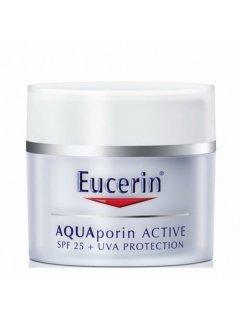 AquaPorin Active Эуцерин - Увлажняющий дневной крем для всех типов кожи с SPF 25