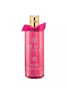 "Grace Cole White Rose & Lotus Flower Bath & Shower Gel - Гель-пена для душа ""Белая роза и Цветок лотоса"""