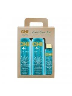 CHI Aloe Vera Curl Care Kit Set - Набор для ухода за влоссами с алоэ
