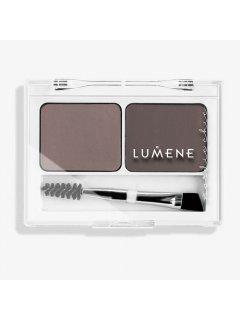 Lumene Nordic Chic Extra Stay Eyebrow Palette - Палетка теней для бровей Medium Brown