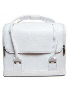 Сosmetic Сase  A38-WHITE-GL Мейк Ап Ми -  Бьюти-кейс для косметики A38 белый лаковый