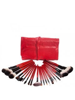 Brushes Set B22-Red Мейк Ап Ми - Набор кистей 22 шт в красном чехле