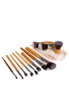 Brushes Set ECO-11 Мейк Ап Ми - Набор кистей в ситцевом чехле 11 шт