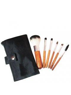Brushes Set MUS-6 Мейк Ап Ми - Набор кистей 6 шт в черной сумочке