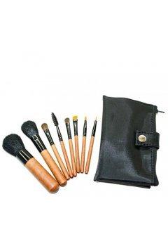Brushes Set MUS-8 Мейк Ап Ми - Набор кистей 8 шт в черной сумочке