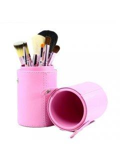 Brushes Set TUBE-7-PINK Мейк Ап Ми - Набор кистей в тубусе 7 шт розовый