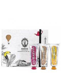Marvis Wonders of The World Set - Подарочный набор с зубными пастами трёх вкусов - Royal, Karakum, Rambas