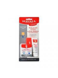 Set Мавала - Набор из двух средств: крем для поврежденных ногтей НейЛактан + Защитный экран для ногтей