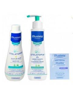 Stelatopia Atopic Skin Cleaning Мустела Стелатопия - Набор Очищение атопической кожи