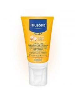 Very high protection sun lotion SPF+50 40 ml  Мустела - Солнцезащитный лосьон с высокой степенью защиты SPF+50