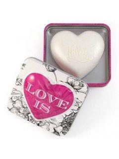 Classic Luxury Heart Shaped Soaps in Tins Rose Petal Love Is Нейчарели Европен - Мыло серце в металической коробке Лепестки роз