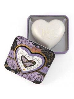Classic Luxury Heart Shaped Soaps in Tins Evening Jasmine Нейчарели Европен - Мыло серце в металической коробке Вечерний жасмин