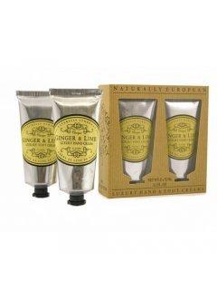 "Classic Luxury Hand And Foot Creams Ginger & Lime Нейчарели Европен - Набор: крем для рук и крем для ног ""Имбирь и лайм"""