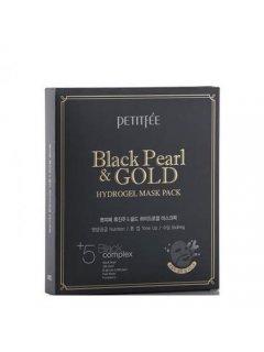 Black Pearl & Gold Hydrogel Mask Pack Петитфи Блек Перл Энд Голд Маск - Гидрогелевая маска для лица с золотом и черным жемчугом