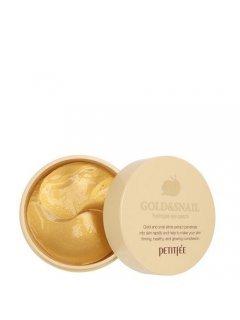 Gold & Snail Hydrogel Eye Patch Петитфи Голд Энд Снейл Патч - Гидрогелевые патчи для глаз с золотом и улиткой