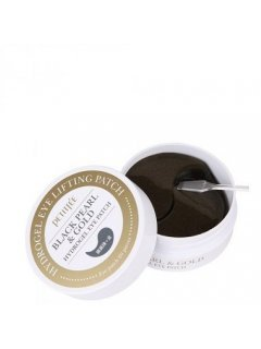 Black Pearl & Gold Hydrogel Eye Patch Петитфи Блек Перл Энд Голд Патч - Гидрогелевые патчи для глаз с золотом и черным жемчугом
