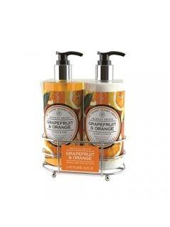 "Hand Care Collection Тропикал Фрутс - Набор: жидкое мыло, лосьон ""Грейпфрут и апельсин"""