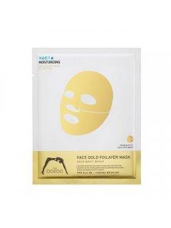 The Oozoo Face Gold Foilayer Mask -  Экспресс-маска с термоэффектом с аквапорином