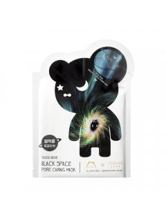The Oozoo Bear Black Space Pore Caring Mask -  Маска для сужения пор